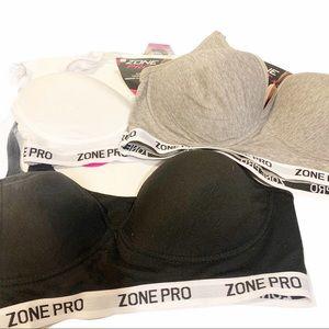 Zone Pro Padded Sports Bra Bundle NWT